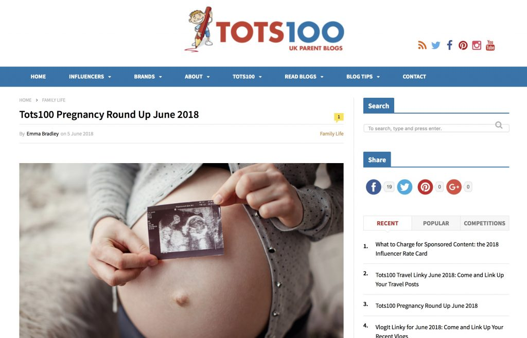 Pregnancy Diary Tots 100 Round up