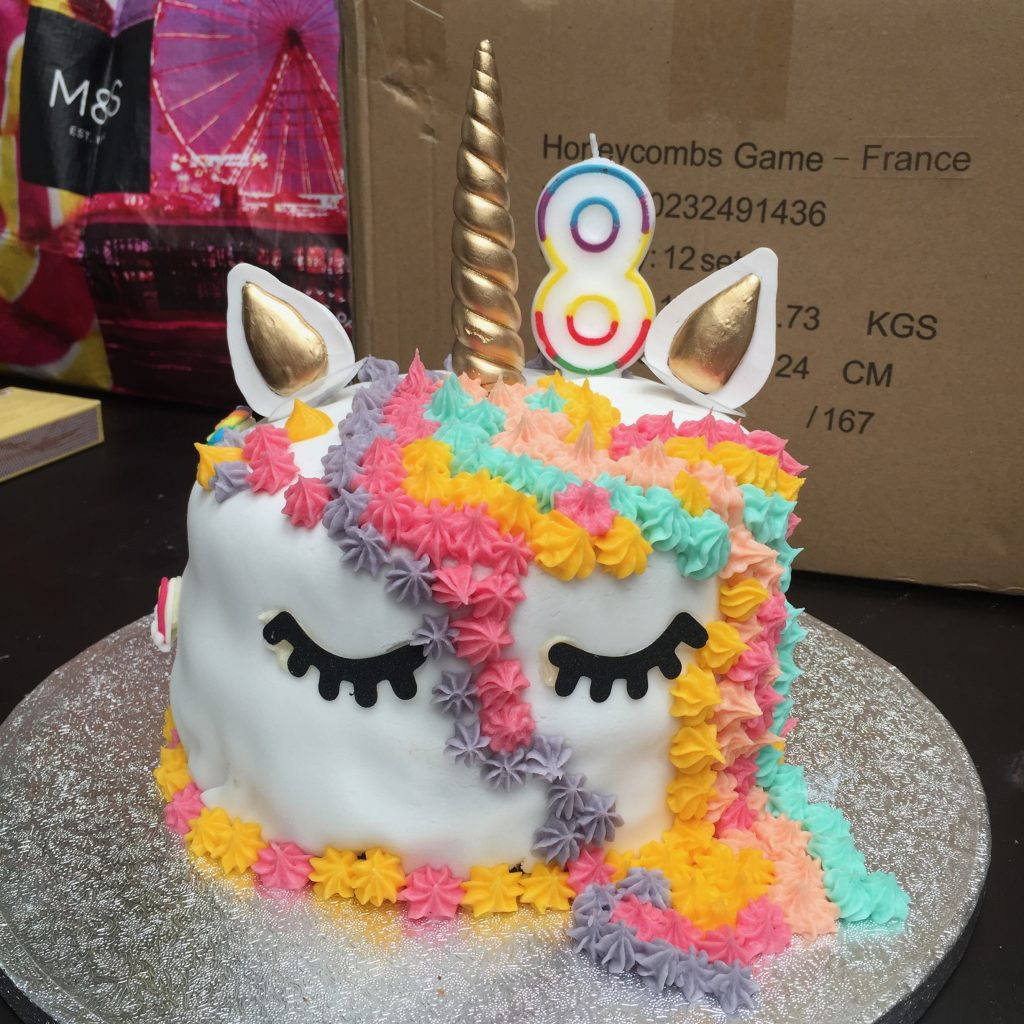 Pregnancy Diary Unicorn Cake