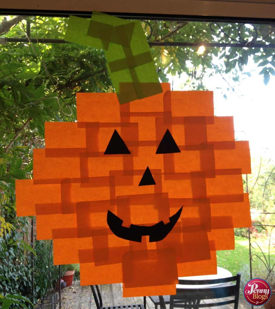 Halloween Crafts Post It Note Pumpkin
