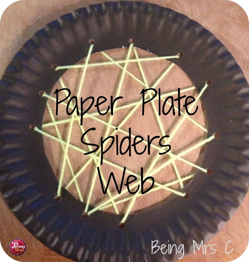 Halloween Crafts Paper Plate Spiders Web