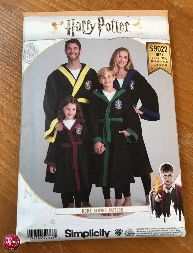 Penny's Corona Diary Harry Potter sewing pattern