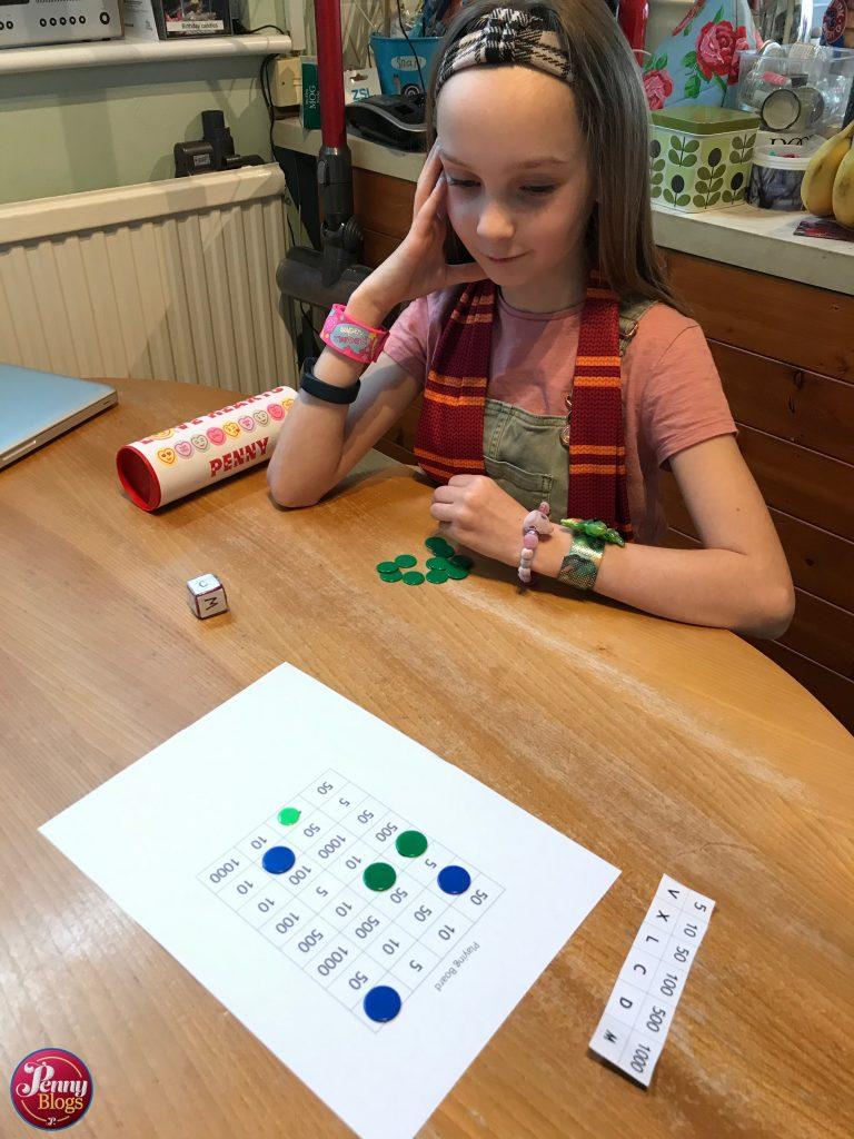 Penny's Corona Diary  Roman numerals dice game